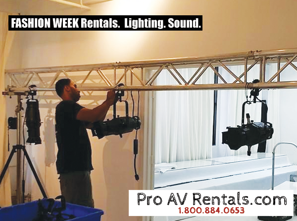 Rent Event Lighting - Fashion Week, NYC, Spots, Leko, Source 4