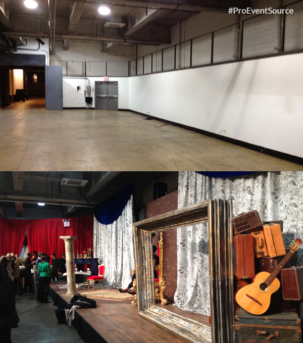 Fashion Stage Rental NYC by Pro Event Source for Alice + Olivia 2013 Fashion Week Show, inspired by french street style. For more infor visit: https://proavrentals.com #proeventsource #proavrentals