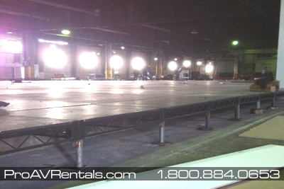 Stage Rentals - Warehouse Stage Sub Floor