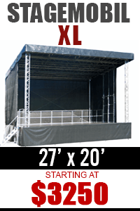 Rent Mobile Stage - NY, NJ, CT, PA, MD, DC